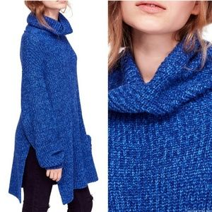 NWT Free People Cobalt Blue Eleven Sweater